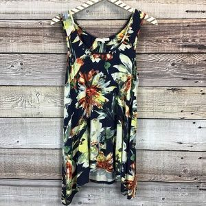 Weston Wear Small Navy Floral Tank Top 0465
